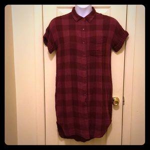 Old Navy Buffalo Check Shirt/Tunic